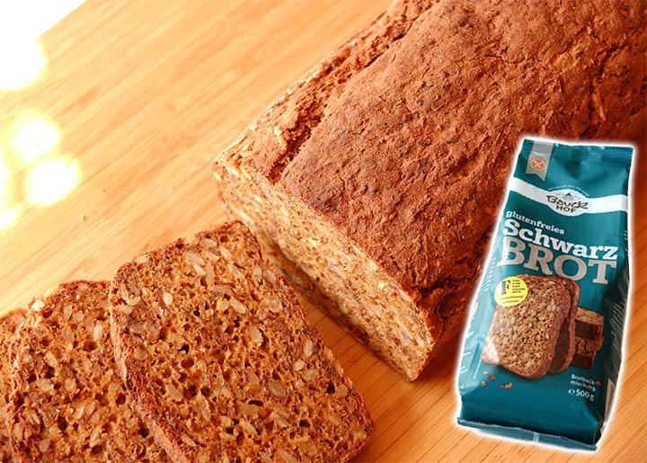 Glutenfreie Schwarzbrot Backmischung von Bauckhof